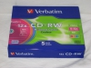 Verbatim CD-RW 700Mb 8-12x Hi-Speed Colour Slim Box 5шт.